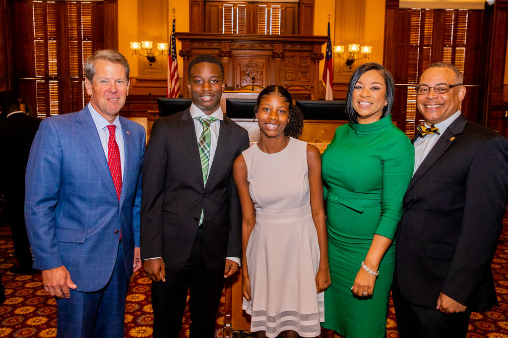 Judge Whitner family & governor kemp